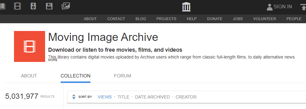 Internet Archive Movie Archive